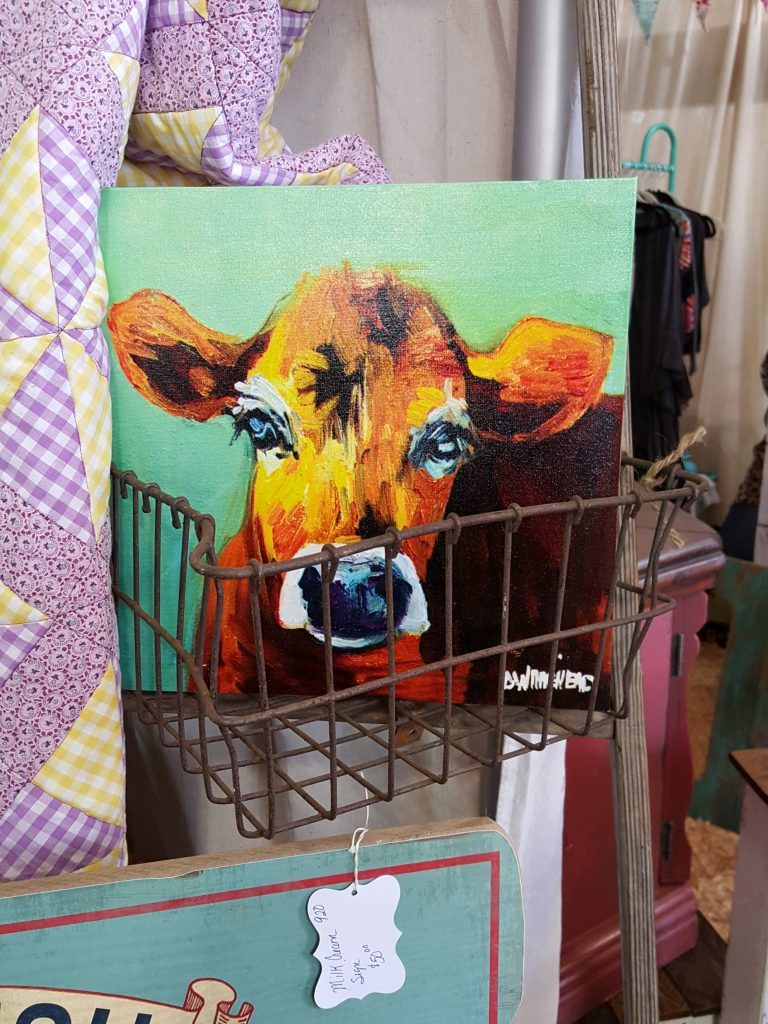vintage market days - cow painting